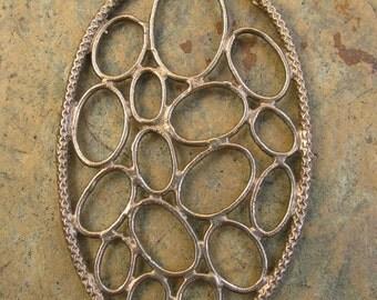 Bronze Large Circle Pendant