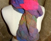 Entrelac Scarf in Hawaii Brights RESERVED for Mieke