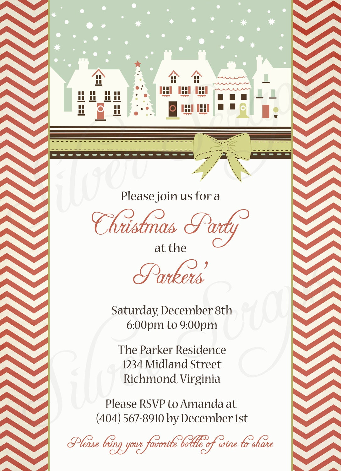 Displaying 17> Images For - Retro Christmas Party Invitations...