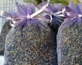 ORGANIC LAVENDER Sachet Bags- 20 Lavender Sachet Bags, FRAGRANT Lavender buds Sachets/favors, lavender filled organza bags Lavendar Sachet