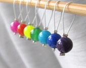 Taste the Rainbow - Seven Snag Free Stitch Markers - Fits Up To 5.0 mm (8 US) - Open Edition