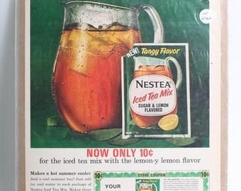 1965 Original Advertisement for Nestea Ice Tea from Life Magazine