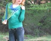 free spirited shell shawl - sideways crochet shawl pattern advanced beginners