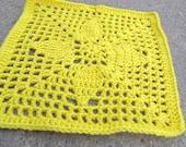 "Pinecone 12"" crochet Square pattern"