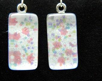 Delicate Flowers Nail Polish Dangle Earrings
