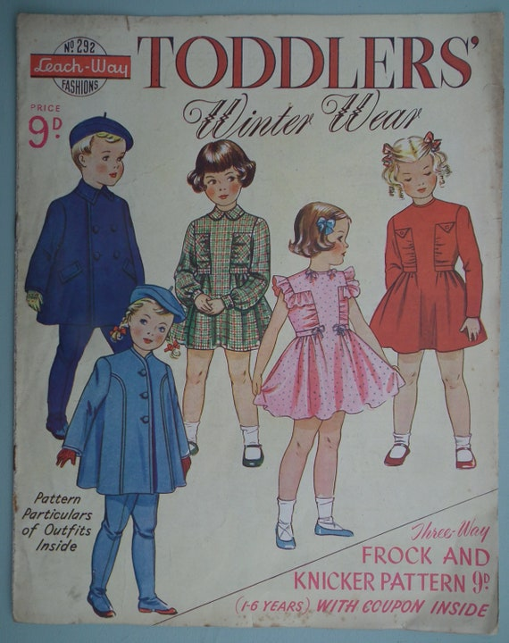 vintage sewing patterns catalog 1940s 1950s childrens