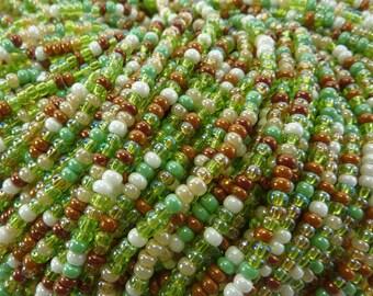 8/0 Clover Mix Czech Glass Seed Bead Strand (CW64)