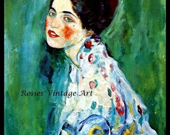 Portrait of a Lady 1916 by Gustav Klimt  - Giclee Art Noveau Print - Klimt Poster