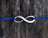 best friend valentine gift, friendship bracelet, embroidery thread wish bracelet, silver infinity jewelry, wishlet, letterhappy