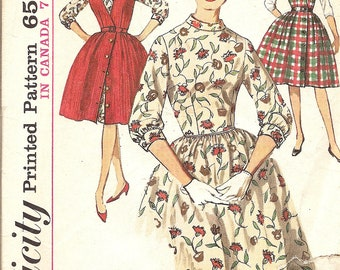 1960's Dress and Jumper Vintage Sewing Pattern Simplicity 5107 Madmen