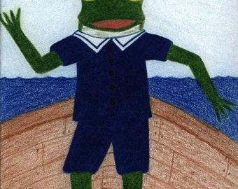 Sailor Frog Card