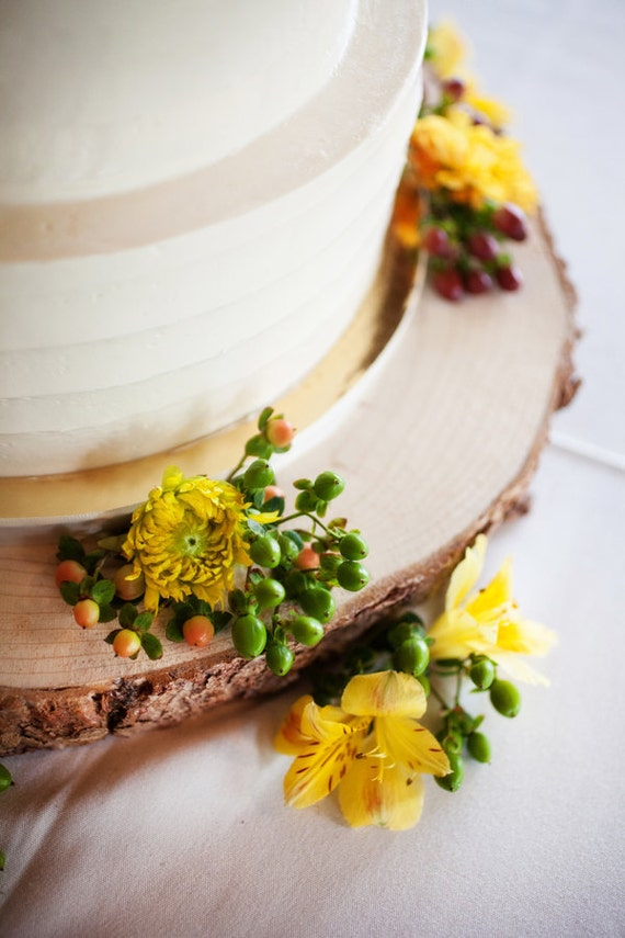 """16"""" Rustic Wood Tree Slice Wedding Cake Base or Cupcake Stand for your Event and Party or even a Newborn Photo Prop"""