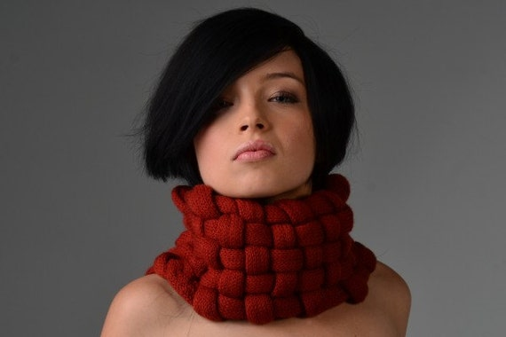 Woven Cowl in Spice