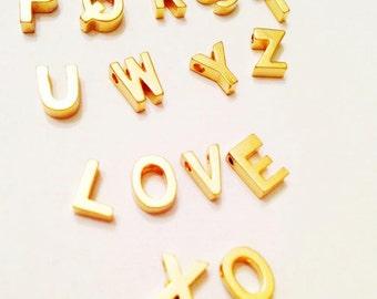 Add extra Letter Charm to Maki Y. Design Jewelry - Gold Alphabet, by Maki Y design
