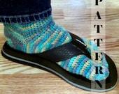 Tabi Split Toe Socks Flip Flop Socks - Crochet Pattern 517  INSTANT DOWNLOAD