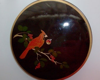 Cardinal Laquerware Canister by Otagiri