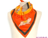 new . Pigs Carousel NAF NAF Vintage scarf