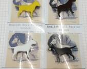 English Bull Terrier Brooch - Laser Cut Acrylic