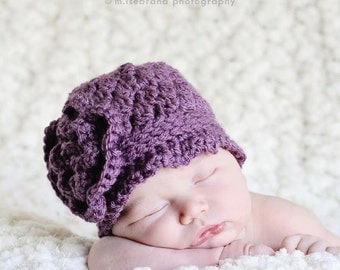 The Clare - Crochet Baby Hat, Photography Prop.