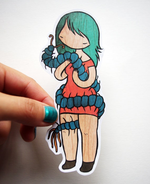 Centipede Lover  - cute little laminated colorful Sticker