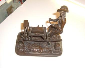 Shear Man...No Dull Scissors Here Edward..Vintage Bronze Sculpture