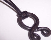 Small Troll Cross Pendant Reclaimed Metal Unisex