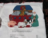 Fabric Panel Noah's Ark Toy Set sew your own soft toy or cheater quilt