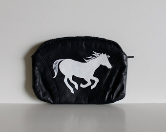 Vintage Purse with Hand Painted Horse / Black Vintage Purse / Horse / Prom Purse / Vintage Clutch / Evening Purse / Birthday Gift