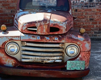 Vintage Ford Truck Photography - Old Truck Photo - Vintage Truck - Truck Photo - Truck Photography - Fine Art Photography
