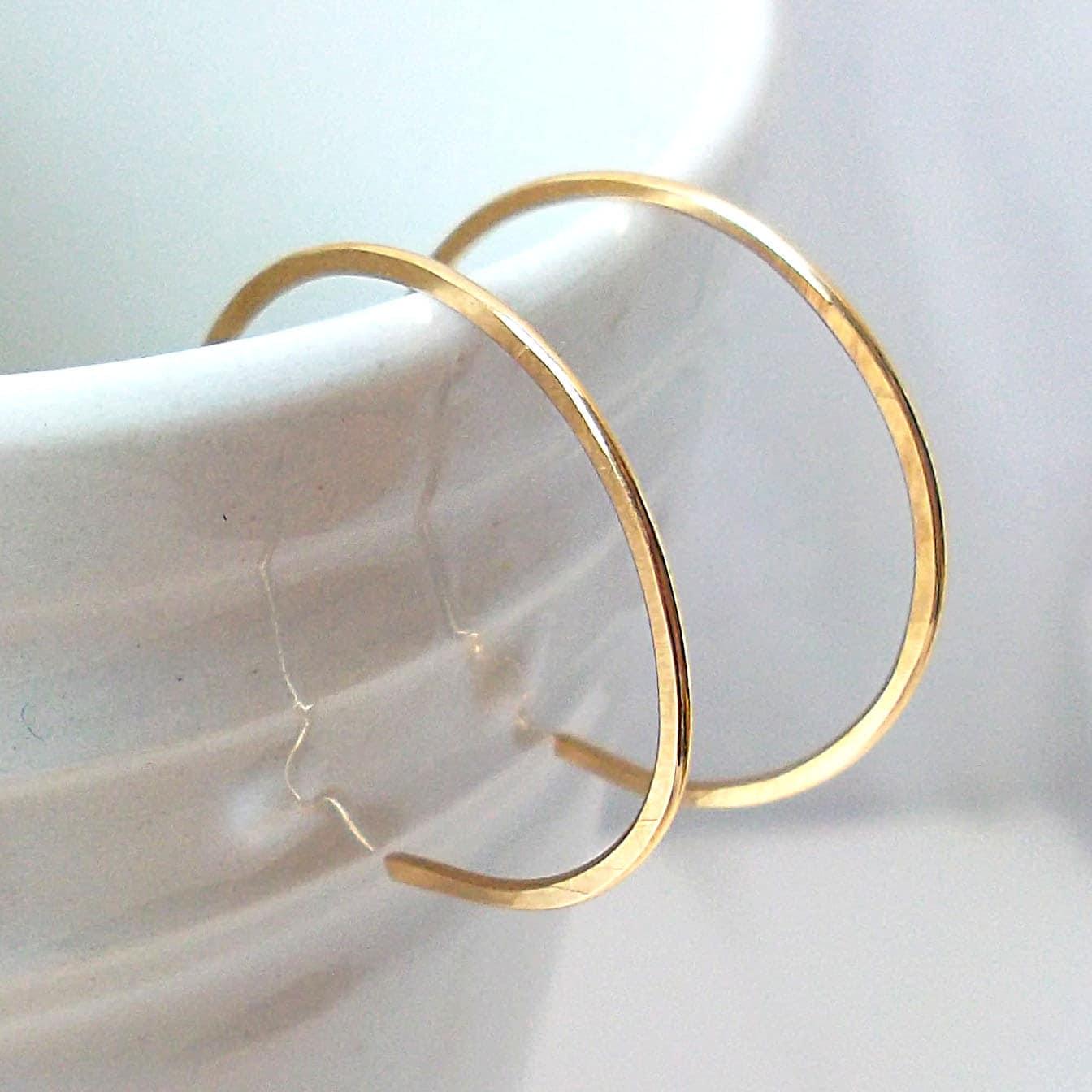 Small Hoops Gold Filled Hoop Earrings Reverse