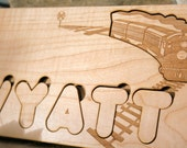Premium Maple Name Puzzle- Personalized Chunky Letters Puzzle
