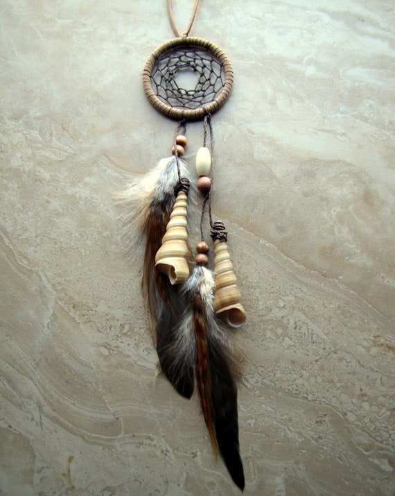 Cyber Monday Sale Dream Catcher Seashell and Feather