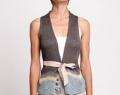 Knitted Sleeveless Cardigan - Ripple Collection