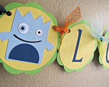 Little Monster Party High Chair Banner, Monster Party Name Banner, Monster High Chair Banner, Monster Birthday Party, Halloween Birthday