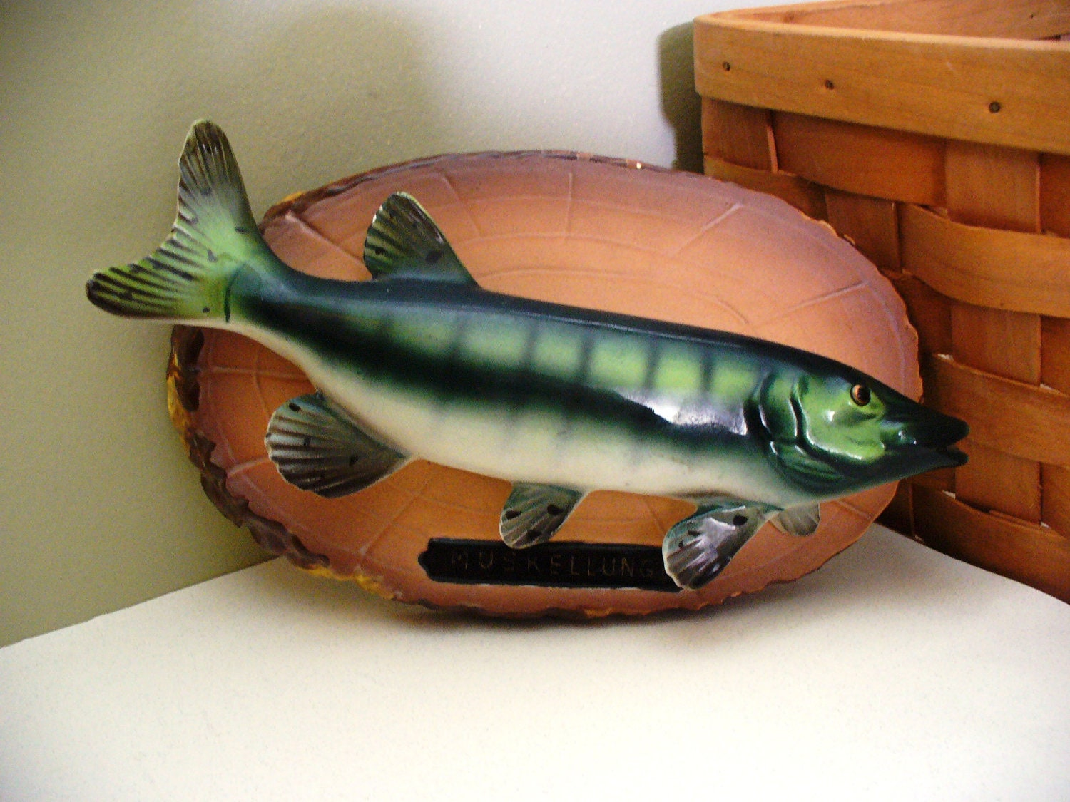 Fish decor fly fishing cabin fisherman trout father 39 s day for Fly fishing decor