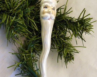 Ceramic Christmas Ornament - Santacicle Yellow