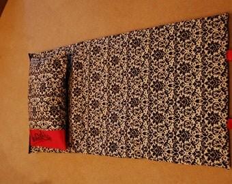 NAP MAT -Cotton Fabric on Cotton Fabric (with monogram)