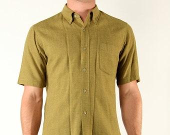 Vintage Pendleton Mens Wool Medium Short Sleeve Shirt Button Up 60s