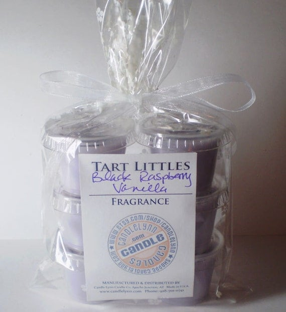 6 Soy Wax Tart Littles - BLACK RASPBERRY VANILLA
