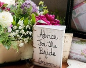 Wedding Guest Book Advice For The Bride And Groom Shabby Chic Decor  (item number MMHDSR10015)