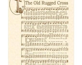 OLD RUGGED CROSS   Christian Home Decor   Office Decor   Vintage Verses  Sheet Music