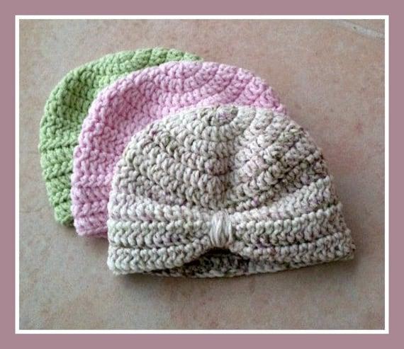 Pink Baby Camo Crochet Newborn Baby Turban Hat