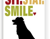 Border Collie Art Print Wall Decor Sit Stay Smile
