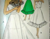 Vintage 1950's McCalls Pattern 8728 ** PETTICOAT & CAMISOLE in 2 Lengths ** UNCUT Bust 32 or Bust 34