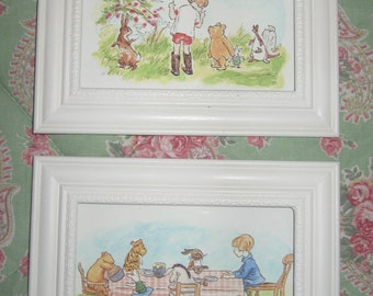Classic Winnie the Pooh & Christopher Robin 4 x 6 Framed Prints