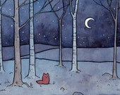Red Fox 8x10 illustration print