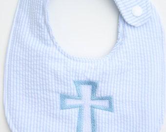 Bib, Baby shower gift, Christian, cross bib
