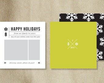 View Christmas Card Templates by designbybittersweet on Etsy