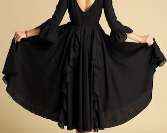 Black maxi dress,bridemaid dress,Black dress,little black dress, prom dress, party dress, ladies dress, womens dress, designer dress (353)