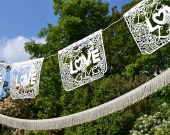 Love love love laser cut bunting